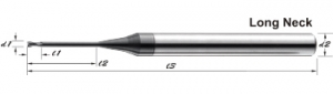 GJE-2T-CVD Graphite Dedicated End Mills
