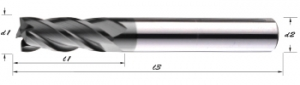 GE-4T-CVD Graphite Dedicated End Mills