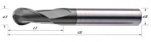 GB-2T-CVD Graphite Dedicated End Mills